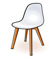 white hull chair cartoon vector image
