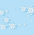 winter origami snowflake greeting banner with blue vector image vector image