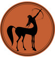 zodiac in the style of ancient greece sagittarius vector image
