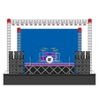 Big Concert Stage with Speakers and Drums vector image