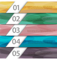 Colorful paper numbered banners vector image