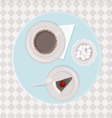 coffee with dessert vector image