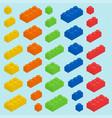 plastic blocks set vector image