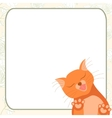 Cute romantic card with tender cat who kisses you vector image