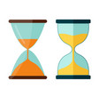 hourglass icon transparent sandglass vector image