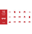 15 tank icons vector image vector image