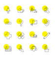 16 help icons vector image vector image
