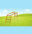 a playground equipment background vector image vector image