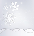 Abstract winter background with snowflakes vector image vector image