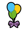 air balloons celebration vector image