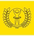 artistic gymnastic sportsman flag background vector image