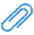 attach paperclip grunge icon vector image vector image