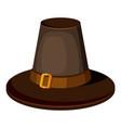 brown hat icon cartoon style vector image vector image