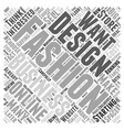 Can You Make Money as a Fashion Designer Word vector image vector image