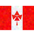 Canada flag on a triangle style vector image vector image