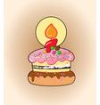 Cartoon cake vector image vector image