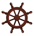 cartoon ship s wheel vector image vector image