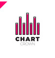 chart crown infographic rate or rate icon vector image vector image