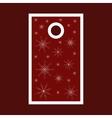 Christmas sale tag with snowflakes Merry Christmas vector image vector image