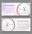 clock realistic detailed set banners vector image vector image