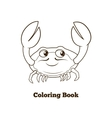 Coloring book crab cartoon educational vector image vector image
