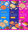 construction material banner vecrtical set vector image vector image