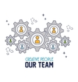 creative people our team vector image vector image