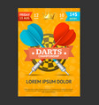 darts tournament poster card template vector image vector image