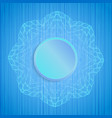 decorative mandala on blue striped texture vector image