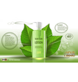 Digital green glass skin care lotion vector image vector image