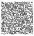 doodle of girlish cosmetics vector image