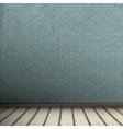Empty grey Interior of vintage room vector image vector image