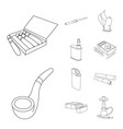 equipment and smoking icon vector image vector image