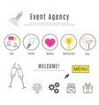 event agency web design template vector image vector image