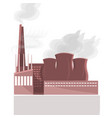 factory building nature air pollution plant pipe vector image vector image
