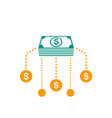 financial assets diversification icon vector image vector image