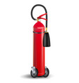 fire extinguisher sign 3d realistic red vector image vector image