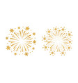 firework gold isolated vector image vector image