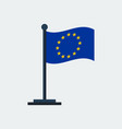 flag of european unionflag stand vector image