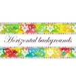 Floral seamless border vector image vector image