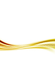 Golden metal speed swoosh abstract wave vector image vector image