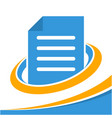 icon logo for business document management vector image