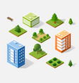 isometric 3d trees vector image
