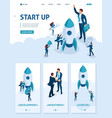 isometric development and startup business vector image vector image