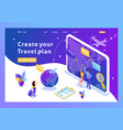isometric tourists look choose direction relax vector image