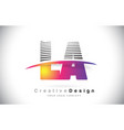 la l a letter logo design with creative lines and vector image vector image