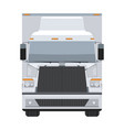 long vehicle trailer truck with flat and solid vector image