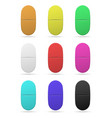 medicinal tablets set of oval tablets of vector image