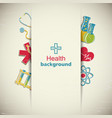 medicine and science paper background vector image vector image