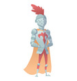 medieval knight in full armor flat vector image